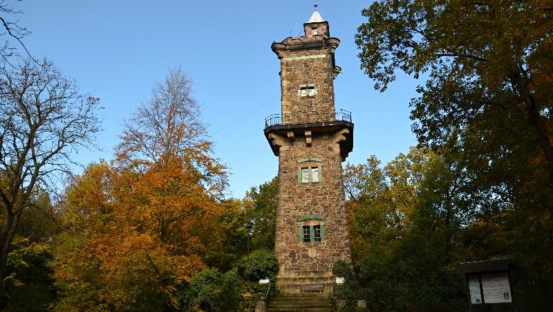 Rozhledna a lesy Bismarckturm Panoramahöhe