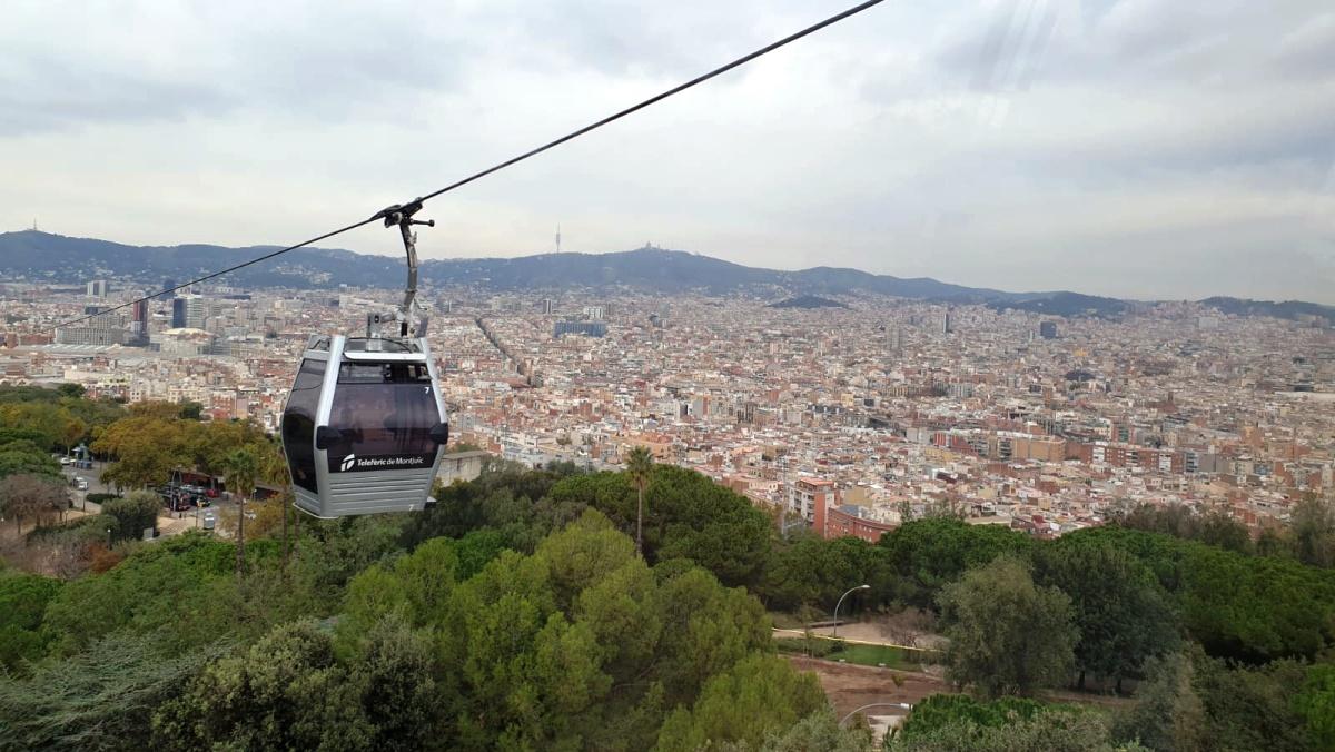 Lanovkou na Montjuïc