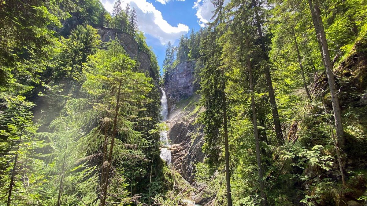 Procházka k vodopádu Martuljski Slapovi